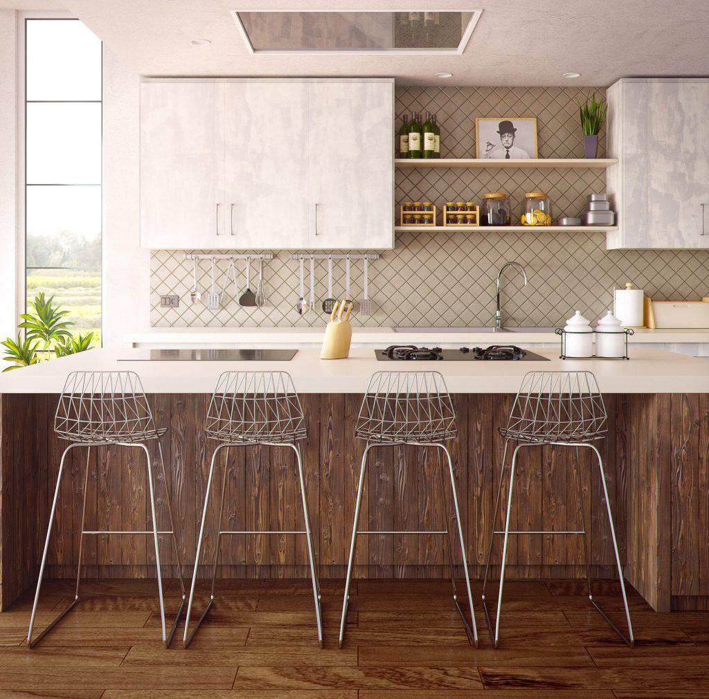 nieuwe houten keuken